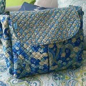 Handbags - Leenie Quilted Diaper Bag Paisley Design